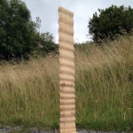 "wood sculpture ""Upstream"""